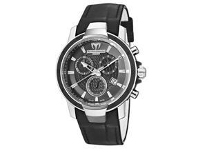 TechnoMarine Ladies UF6 Chronograph Black Leather Watch 609010