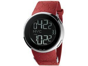 Gucci 114 I-Gucci Red Rubber Extra Large Unisex Digital Watch YA114212