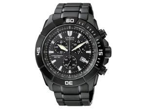 Citizen Men's Eco-Drive Chronograph Black Ion Plated Base Stainless Steel