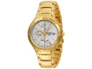 Pulsar Alarm Chronograph Gold-Tone Mens Watch PF3686