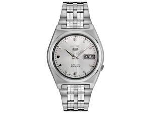 Seiko Men's Automatic Silver Grid Dial Stainless Steel