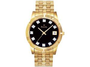 Bulova Men's Diamond Goldtone
