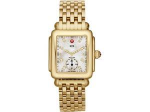 Michele Deco 16 Gold White Diamond Ladies Watch MWW06V000004