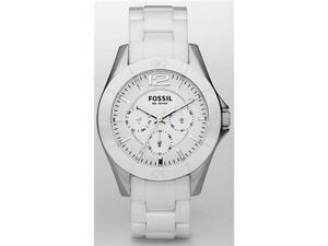 Fossil Multifunction White Ceramic White Dial Women's watch #CE1002