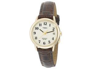 Timex Ladies Easy Reader Brown Leather Watch T20071