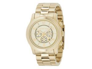 Michael Kors Men's Chronograph Champagne Dial Gold Tone Stainless Steel