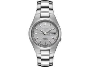 Men's Seiko 5 Automatic Silver Textured Dial Stainless Steel