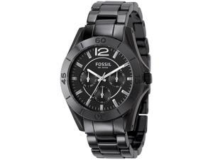 Fossil Ceramic Multifunction Black Dial Women's Watch #CE1003