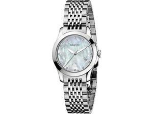 Gucci Stainless Steel Bracelet Mother-of-Pearl Dial Women's Watch #YA126504