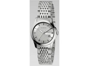 Gucci G Timeless Ladies Watch Stainless Steel with a Silver Dial YA126501