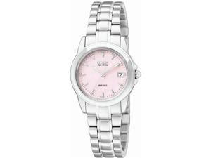 Citizen Silhouette Eco-Drive Pink Dial Stainless Steel Ladies Watch EW1620-57X
