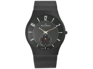 Skagen Black Steel Mens Watch 805XLTBB
