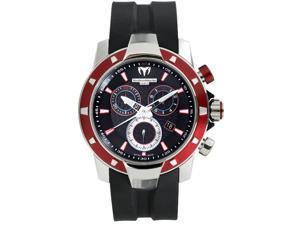 TechnoMarine Mens UF6 Magnum Chrono Aluminum Red and Black Watch 609022