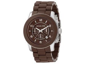Michael Kors Men's Chronograph Chocolate Brown Polyurethane