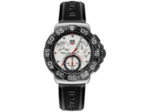 Tag Heuer Formula One Chronograph Steel Black Rubber Mens Watch CAH1111.BT0714