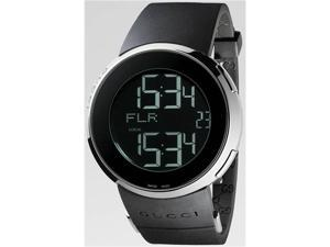 Gucci 114 I-Gucci Womens Digital Black Strap Watch YA114401