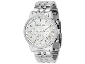 Michael Kors Women's Chronograph White Crystal Stainless Steel