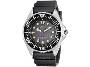 Citizen Men's Eco-Drive Divers Black Dial Black Rubber