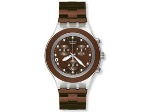 Swatch Irony Diaphane Chronograph White Crystal Brown Ion Plated Stainless Steel