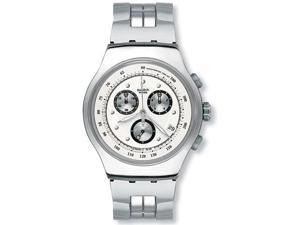 Swatch Men's Irony Chronograph Silver Dial Stainless Steel