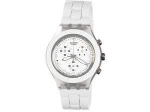 Swatch Full-Blooded White Chronograph Aluminum Ladies Watch SVCK4045AG
