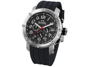 TW Steel Men's Grandeur Tech Chronograph Black Dial Black Rubber