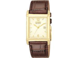 Citizen Mens Eco Drive Gold Tone Stainless Steel