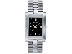 Bulova Stainless Steel Mens Watch 96B59