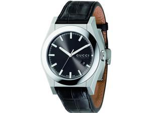 Gucci Men's Pantheon Leather Strap watch #YA115203