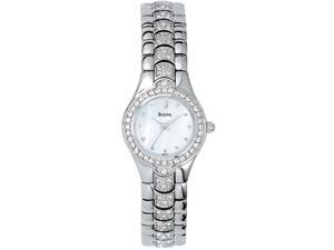 Bulova Crystal Ladies MOP Quartz Stainless Steel