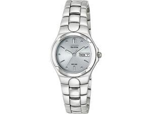 Citizen Eco-Drive Corso Grey Dial Stainless Steel Ladies Watch EW3030-50A