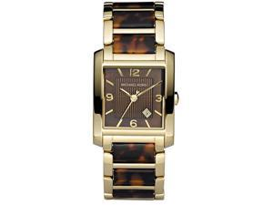 Michael Kors Goldtone and Tortoise Ladies Watch MK4242