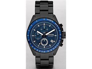 Fossil Chronograph Decker Black Ion Plated Mens Watch CH2692
