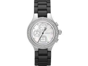 DKNY Chronograph Black IP Ladies Watch NY8099