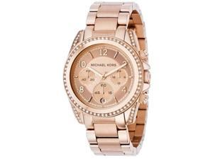 Michael Kors Ladies Quartz Rose Gold Plated