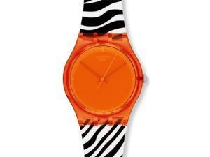 Swatch Originals Orange Zeb Orange Dial Unisex watch #GO107