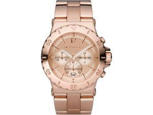 Michael Kors Chronograph Rose Gold Tone Dial Rose Gold Tone Ion Plated Stainless
