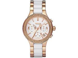 DKNY NY8183 Women's White Dial Rose Gold Tone Chronograph Watch