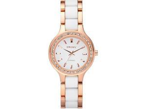 DKNY Ceramic And Steel Crystal Ladies Watch NY8141