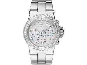 Michael Kors Chronograph White Crystal White Mother Of Pearl Stainless Steel