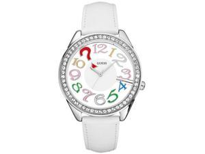 GUESS White Leather Ladies   Watch U11066L1