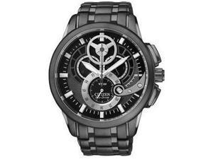 Citizen Eco-Drive Chronograph WR100 Black Dial Men's watch #AT2065-59E
