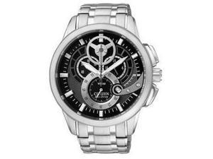 Citizen Eco-Drive Chronograph WR100 Black Dial Men's watch #AT2060-52E