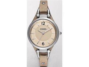 Fossil Georgia Beige Dial Light Brown Leather Ladies Watch ES2830