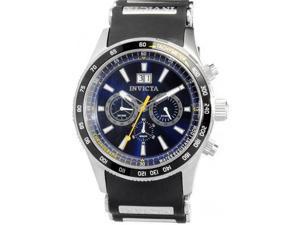 Invicta Flight Blue Dial Chronograph Mens Watch 1235