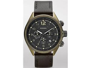 Fossil Flight Chronograph   Black Leather Mens Watch   CH2783