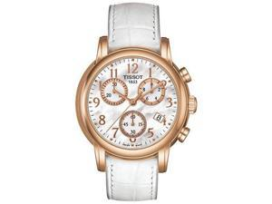 Tissot White Leather   Chronograph Ladies Watch   T0502173611200