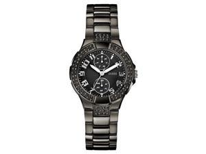 GUESS Chronograph Black Ion   Plated Ladies Watch U13586L3