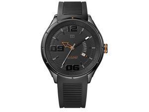 Tommy Hilfiger Black Silicone Mens Watch 1790803