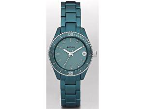 Fossil Stella Mini Teal Aluminum Ladies Watch ES2926